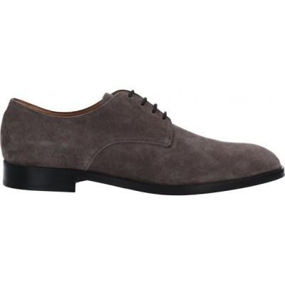 アルマーニ EMPORIO ARMANI メンズ 革靴・ビジネスシューズ シューズ・靴 Laced Shoes Grey