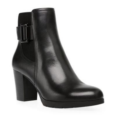 アンクライン レディース ブーツ&レインブーツ シューズ Raylin Booties Black Leather