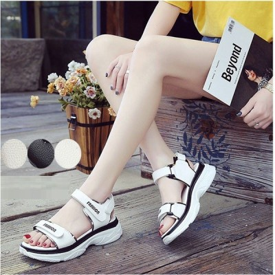【 400円OFFクーポン有 】 sale セール クーポン サンダル レディース スポーツサンダル 靴 大きいサイズ 白 黒 韓国 ファッション