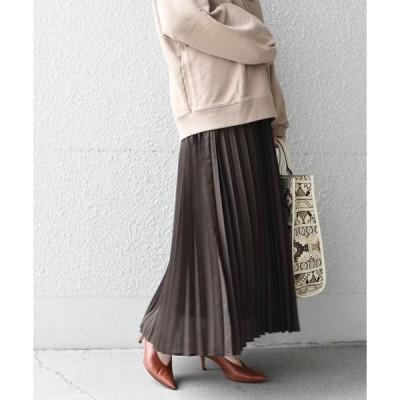 スカート SHIPS any:スパンボイルプリーツスカート◇