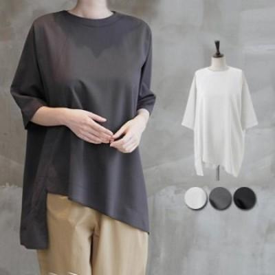 夏新作 tシャツ カットソー レディース 半袖 5分袖 デザイン 春 夏 Tシャツ トップス ^t738^