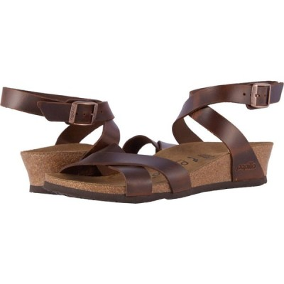 ビルケンシュトック Birkenstock レディース サンダル・ミュール シューズ・靴 Lola by Papillio Cognac Leather
