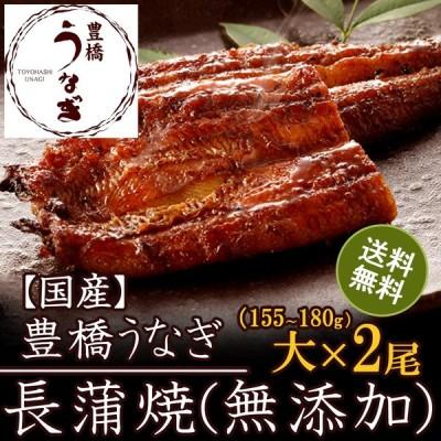 うなぎ 蒲焼き 国産 (無添加)大155-180g×2尾 (大盛2人前)