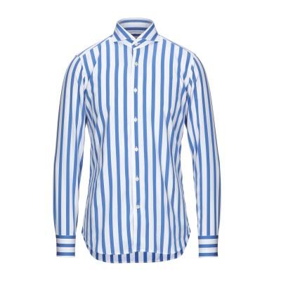GUGLIELMINOTTI シャツ ブルー 42 コットン 78% / キュプラ 22% シャツ