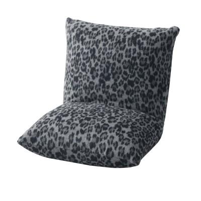 東谷 カックンリクライナー(レオパード柄 グレー) Arucco Chair アルッコチェア コンパクトカックンチェア RKC-727B 返品種別A