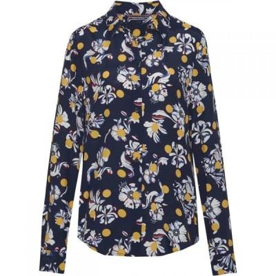 トミー ヒルフィガー Tommy Hilfiger レディース ブラウス・シャツ トップス Rae Flower Print Shirt Navy