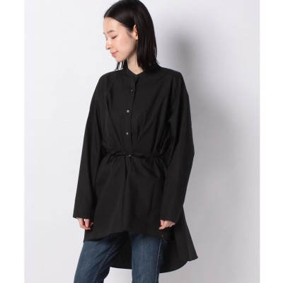 MARcourt 【Casa BRUTUS 4月号掲載】band collar flare shirt(BLACK)
