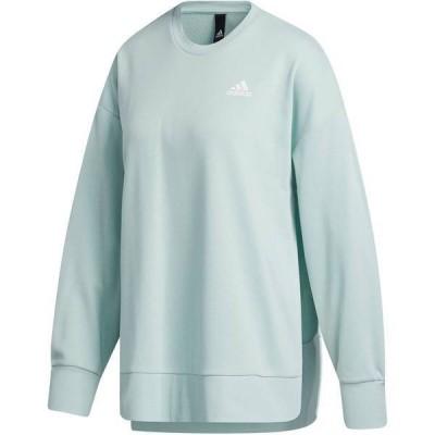 アディダス レディース パーカー・スウェット アウター adidas Women's French Terry Split Tunic Crew Sweatshirt