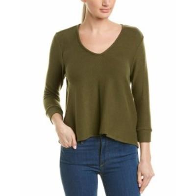 Three Dots スリー ドッツ ファッション トップス Three Dots Brushed Sweater S Green