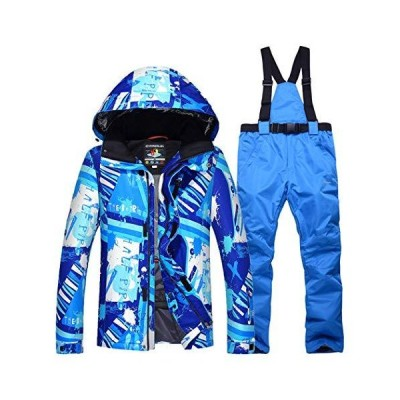 Men's Ski Suits Waterproof Warm Winter Ski Jacket and Pants Snowboard Snowsuit Windproof Hooded Coat【並行輸入品】