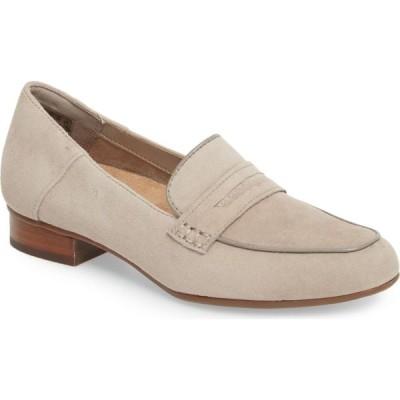 クラークス CLARKS レディース ローファー・オックスフォード シューズ・靴 Keesha Cora Penny Loafer Warm Grey Suede