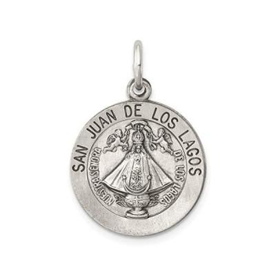 925スターリングシルバーサンファンロスラゴスメダルペンダントチャームネックレス宗教デ・ロー・ラゴファインジュエリーギフト用女性用彼女