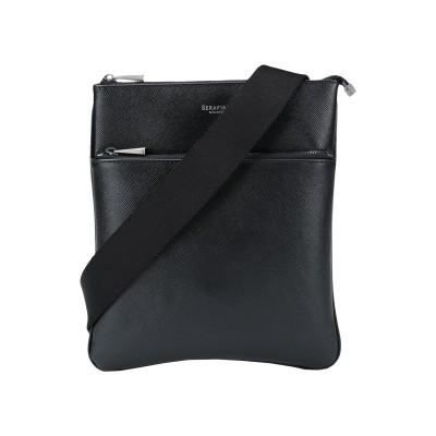 SERAPIAN メッセンジャーバッグ ブラック 革 メッセンジャーバッグ