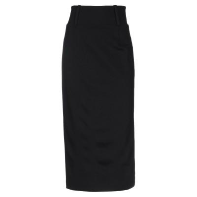エリカ カヴァリーニ ERIKA CAVALLINI 7分丈スカート ブラック 46 レーヨン 68% / ナイロン 27% / ポリウレタン 5%