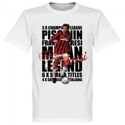 ACミラン フランコ・バレージ Tシャツ SOCCER レジェンド サッカー/フットボール ホワイト