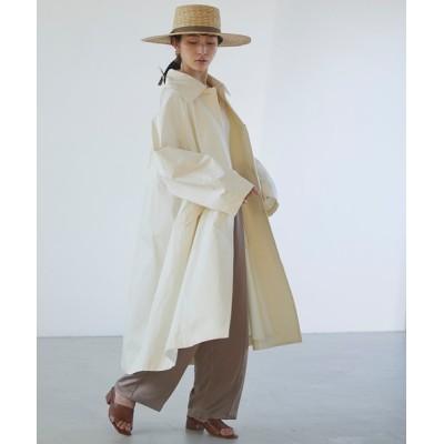 MONO-MART / 【forksy.】ビックカラーデザインボリュームスリーブステンカラーコート WOMEN ジャケット/アウター > ステンカラーコート