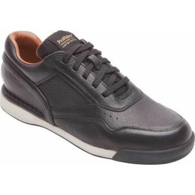 ロックポート メンズ スニーカー シューズ Men's Rockport 7100 ProWalker LTD Sneaker Black Leather