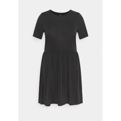 ピーシーズ カーブ レディース ワンピース トップス PCKAMALA DRESS - Jersey dress - black black