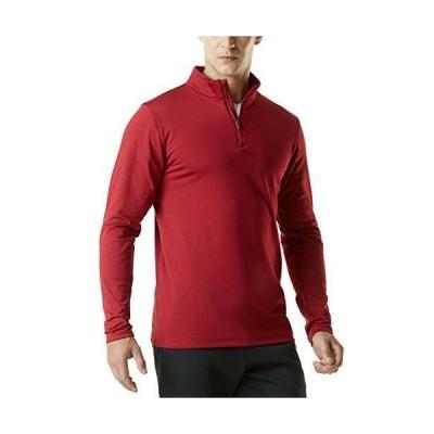 (テスラ) TESLA 長袖 プルオーバーシャツ ハーフジップアップ スポーツ tシャツ [吸汗速乾・軽量保温] フリース裏地 アクティブ