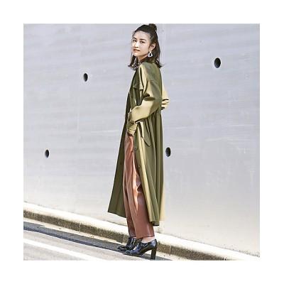 <EUCLAID(Women)/エウクレイド> ミリタリー風ロングコート ミドリ【三越伊勢丹/公式】