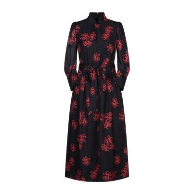 シモーネ・ロシャ SIMONE ROCHA 7分丈ワンピース・ドレス ブラック 8 ポリエステル 100% 7分丈ワンピース・ドレス