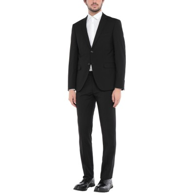 MONTI スーツ ブラック 44 ポリエステル 70% / レーヨン 28% / ポリウレタン 2% スーツ