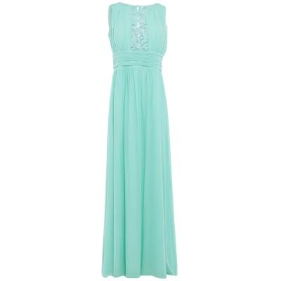 SOANI ロングワンピース&ドレス ライトグリーン 44 ポリエステル 100% ロングワンピース&ドレス