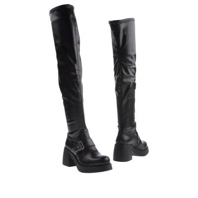 CULT ブーツ ブラック 39 革 / 紡績繊維 ブーツ