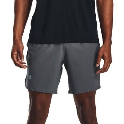 """アンダーアーマー メンズ ハーフパンツ・ショーツ ボトムス Under Armour Men's Launch SW 7"""" Shorts Pitch Gray/Black/Refl"""