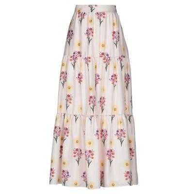 BORGO DE NOR ロングスカート ライトピンク 10 シルク 100% ロングスカート