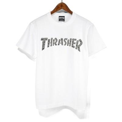 ネコポス送料無料 THRASHER スラッシャー 半袖Tシャツ マグロゴ プリントTシャツ POLYGON LOGO TH91215 マグロゴTシャツ MAG LOGO T-SHIRTS S/STEE