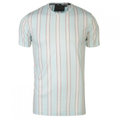 クリミナル Criminal Damage メンズ Tシャツ トップス Criminal Multi Stripe T Shirt MULTI