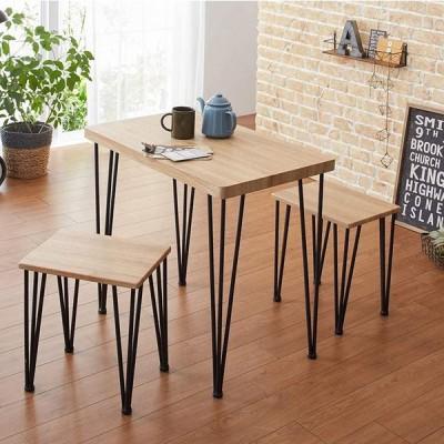 ダイニングテーブル おしゃれ 3点セット テーブル チェア 2人用 ダイニング 2人 安い 格安 カフェ風 アイアン ヴィンテージ アートダイニング
