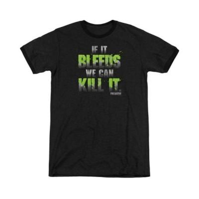 Tシャツ プレデター Predator Movie If It Bleeds Adult Ringer T Shirt