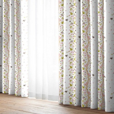 厚地カーテン ボスカート ピンク(1枚) 巾100cm×丈105cm