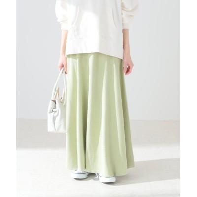 【スピック&スパン】 シルクニットフレアースカート レディース グリーンB フリー Spick & Span
