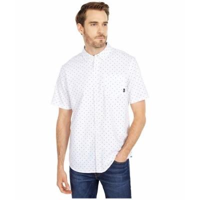 バンズ シャツ トップス メンズ Houser Short Sleeve Woven Shirt White/Victory Ditsy
