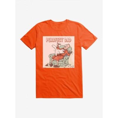 ノーブランド no brand メンズ Tシャツ トップス Simon's Cat Purrfect Dad T-Shirt