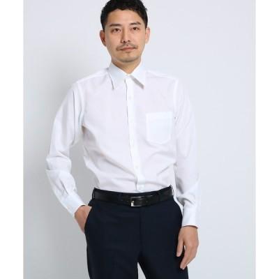 シャツ ブラウス 100/2ブロードシャツ[ メンズ シャツ ワイシャツ 形態安定 無地 白 ]
