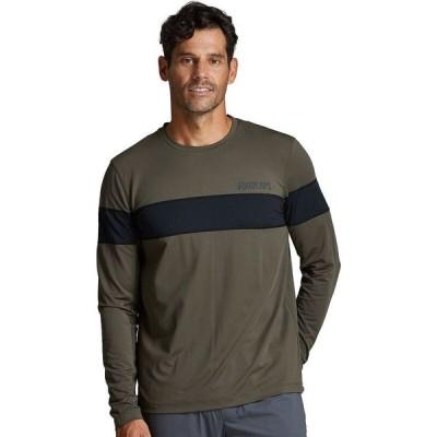 フォーラップス FourLaps メンズ 長袖Tシャツ トップス Smash Long - Sleeve T - Shirt Army Green/Black