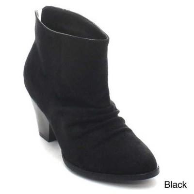 ブーツ シューズ 靴 ワイルドディーバ WILD DIVA レディース One サイズ スモール Stacked Comfy カジュアル アンクルブーティーs LYLEE-01 BLACK