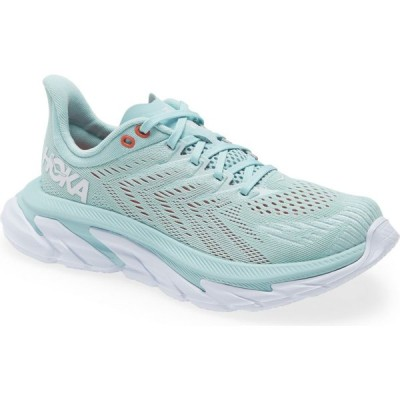 ホカ オネオネ HOKA ONE ONE レディース ランニング・ウォーキング シューズ・靴 Clifton Edge Running Shoe Eggshell Blue/White