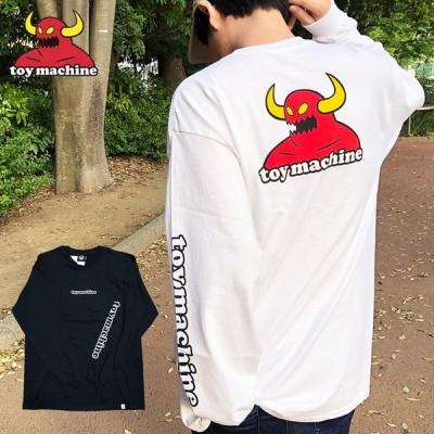 【ゆうパケット送料無料】 トイマシーン ロンT TOYMACHINE TOY MACHINE Tシャツ MONSTER L/S TEE ブラック ホワイト トップス メンズ レディース