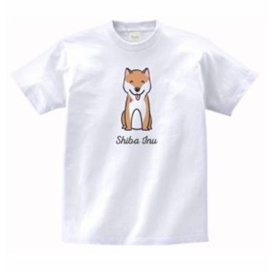 動物 生き物 Tシャツ 柴犬 白
