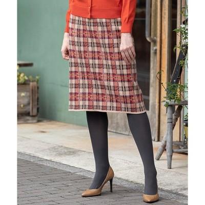 スカート ジャガードニットタイトスカート