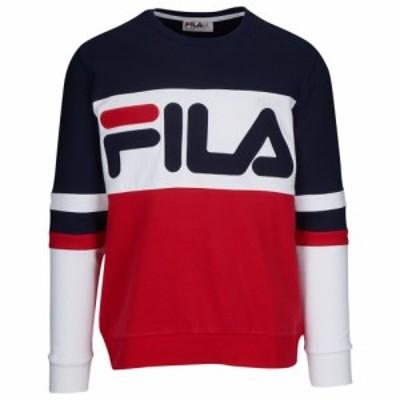 フィラ Fila メンズ スウェット・トレーナー トップス Freddie Sweatshirt Chinese Red/Peacoat/White