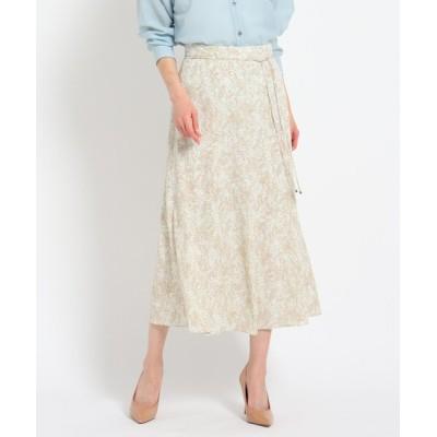 スカート 【洗える】パイソンジョーゼットフレアスカート