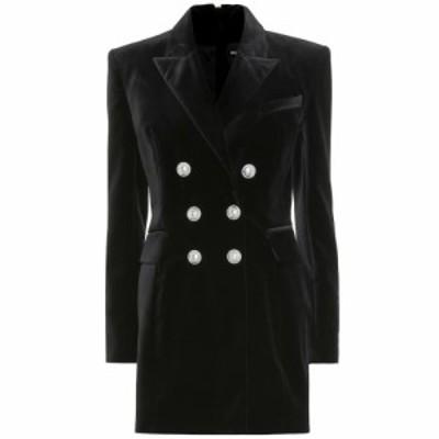 バルマン Balmain レディース パーティードレス ワンピース・ドレス Velvet minidress Noir