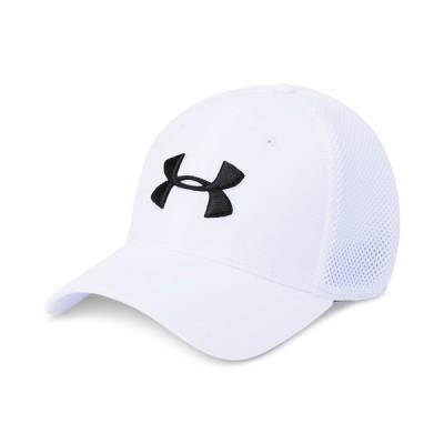 アンダーアーマー 帽子 アクセサリー メンズ Men's Microthread Golf Mesh Cap White/white/academy
