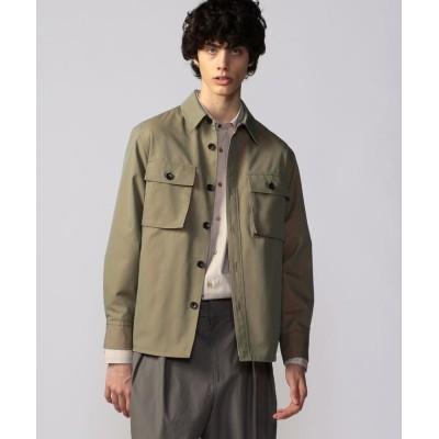 (CABaN/キャバン)コットンポリエステルギャバジン オーバーシャツ/ユニセックス 55グリーン